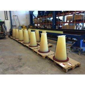 Bend Stiffeners in polyurethane