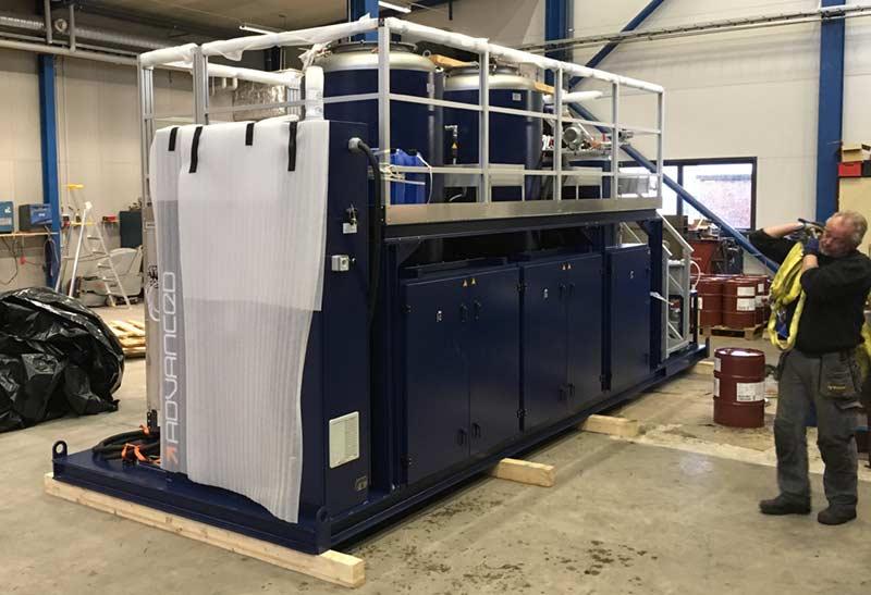 Biggest mixing machine in Scandinavia