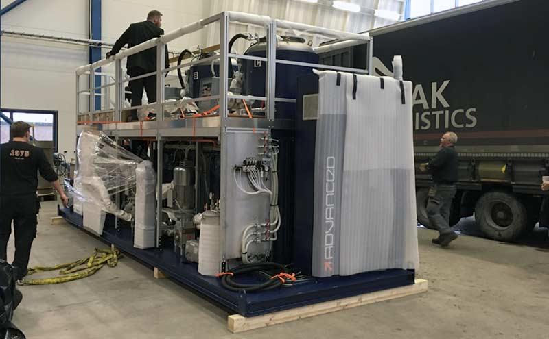 Biggest mixing machine in Scandinavia UW-ELAST