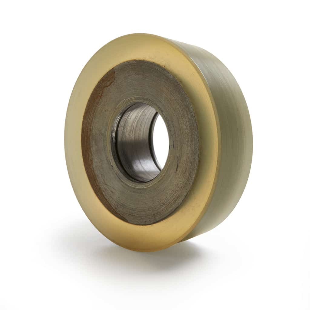 Tapered polyurethane wheel